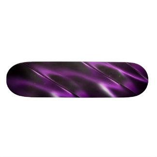 Metallic purple skate deck
