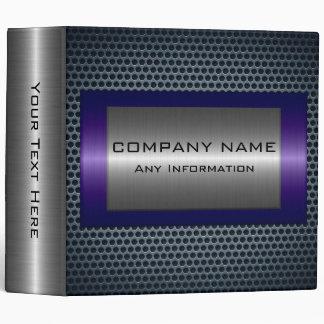 Metallic Purple Stainless Gray Steel Hole Look Vinyl Binders