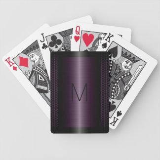 Metallic Purple Stainless Steel Metal Look Bicycle Playing Cards