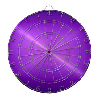 Metallic Purple Stainless Steel Metal Look Dart Board