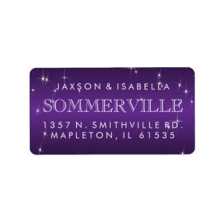 Metallic Purple Star Light Design Label