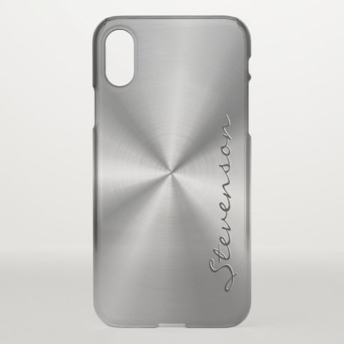Metallic Radial Stainless Steel Look Personalized Phone Case