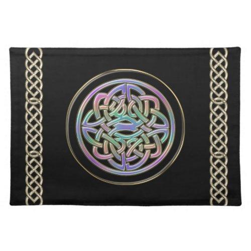 Metallic Rainblow Celtic Knot Design Place Mat