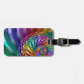 Metallic Rainbow Bag Tag