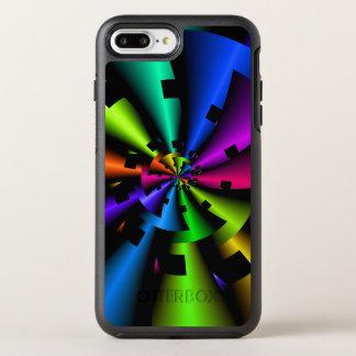 Metallic Rainbow Fractal OtterBox Symmetry iPhone 8 Plus/7 Plus Case