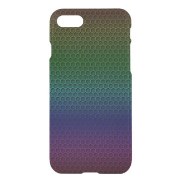 Beach Themed Metallic Rainbow Graphite Honeycomb Carbon Fiber iPhone 7 Case