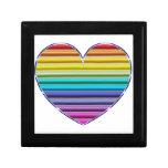 Metallic Rainbow Heart Gift Box