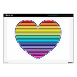 """Metallic Rainbow Heart Skin For 17"""" Laptop"""