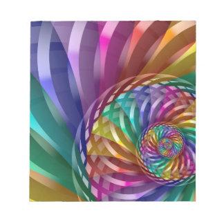Metallic Rainbow Notepad