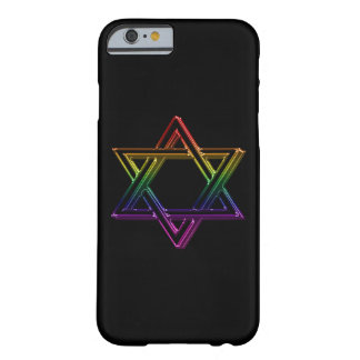 Metallic Rainbow Star of David Barely There iPhone 6 Case
