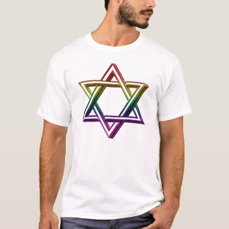 Metallic Rainbow Star of David For Him T-Shirt
