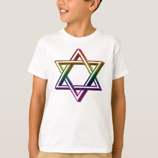 Metallic Rainbow Star of David T-Shirt