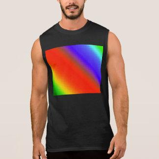 Metallic Rainbow Stripes Sleeveless Shirts