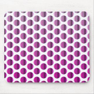 Metallic Raspberry Dots Mouse Pad