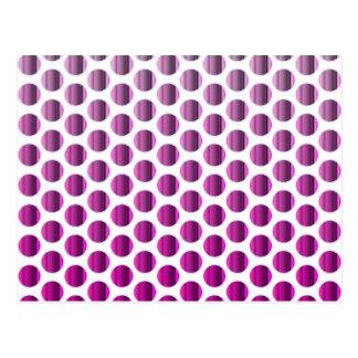 Metallic Raspberry Dots Postcard