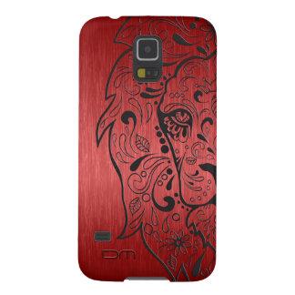 Metallic Red & Black Lion Sugar Skull Galaxy S5 Case