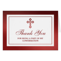 Metallic Red Cross Holy Communion Or Confirmation
