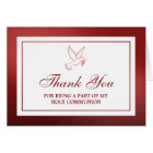 Metallic Red Dove Holy Communion Or Confirmation Card