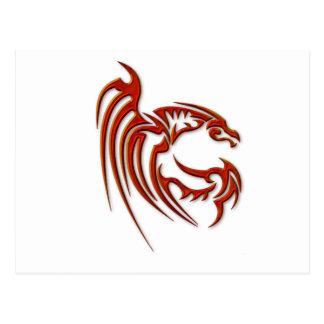 Metallic Red Dragon Postcard