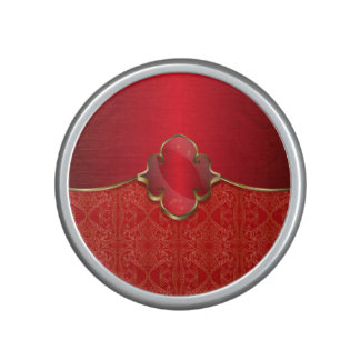 Metallic red,gold,chic,elegant,beautiful,template, bluetooth speaker