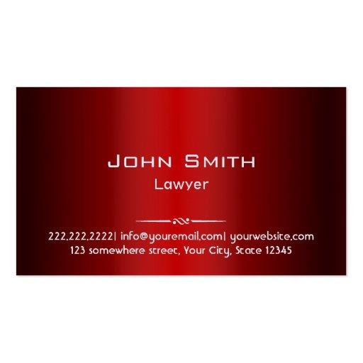 Metallic Red Gra nt Lawyer Business Card