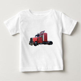Metallic Red Semi TruckIn Three Quarter View Baby T-Shirt
