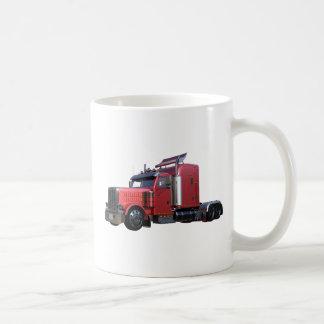 Metallic Red Semi TruckIn Three Quarter View Coffee Mug