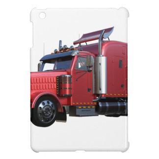 Metallic Red Semi TruckIn Three Quarter View Cover For The iPad Mini