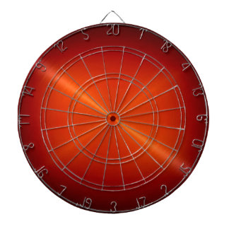 Metallic Red Stainless Steel Metal Look Dartboard With Darts