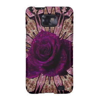 """Metallic Rose Abstract""device/skins/cases"".* Galaxy S2 Case"