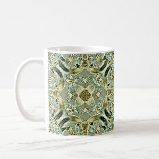 Metallic Rosettes Coffee Mugs