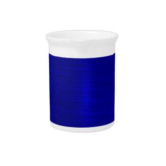 Metallic,royal,blue,modern,shimmer,elegant,chic, Beverage Pitcher