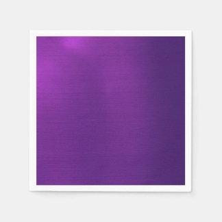 Metallic Royal Purple Paper Napkin