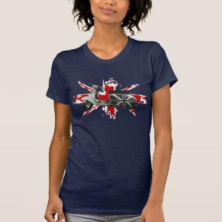 Metallic Scooter on shredded union jack art T Shirts