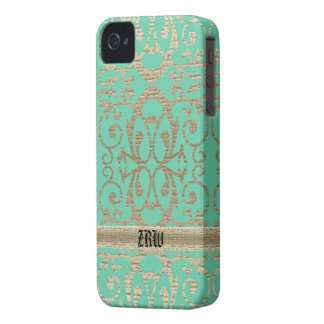 Metallic Scrolls iPhone 4 Cover