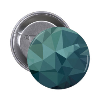 Metallic Seaweed Green Abstract Low Polygon Backgr Button