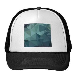 Metallic Seaweed Green Abstract Low Polygon Backgr Trucker Hat