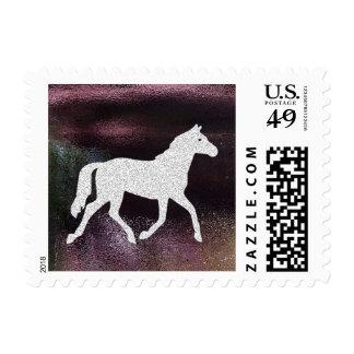 Metallic Shimmer Horse Stamps