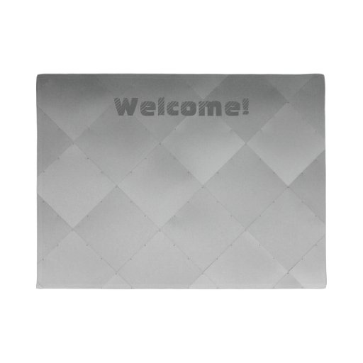Metallic Shiny Silver Checkered Alu Tiles any Text