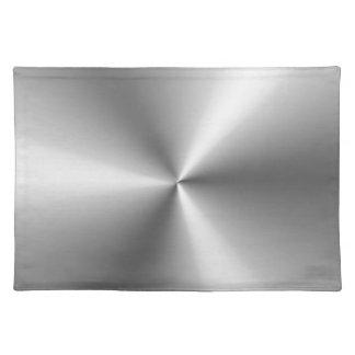 Metallic Silver Cloth Placemat