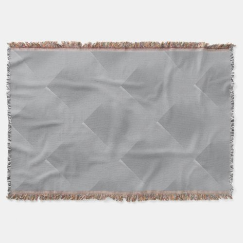Metallic Silver-Colored Patterned Throw Blanket