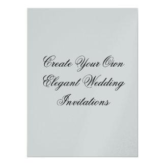 Metallic Silver Create Your Own Wedding Card