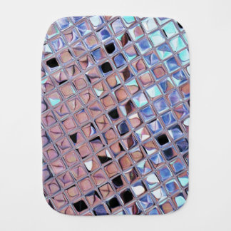 Metallic Silver Disco Ball Mirrors Faux Baby Burp Cloth