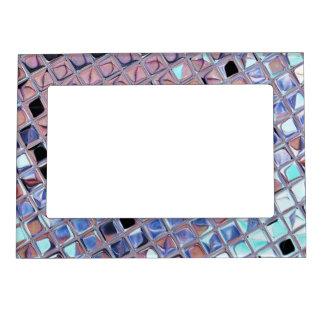 Metallic Silver Disco Ball Mirrors Faux Magnetic Photo Frame