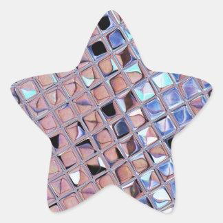 Metallic Silver Disco Ball Mirrors Faux Star Sticker