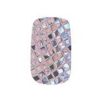 Metallic Silver Disco Ball Mirrors Minx Nail Art