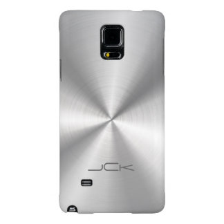 Metallic Silver-Gray Stainless Steel Look Galaxy Note 4 Case