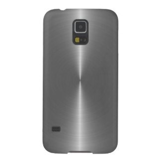 Metallic Silver Gray Stainless Steel Look Galaxy S5 Case