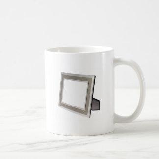 Metallic silver photo frame coffee mug
