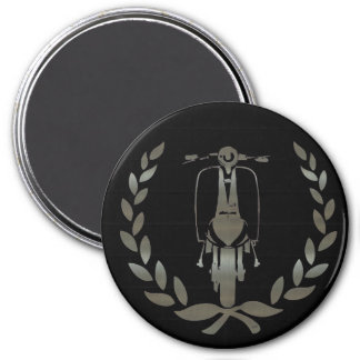 Metallic Silver scooter and laurel Magnets